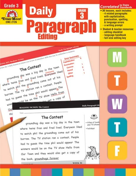 Daily Paragraph Editing Grade 3 from Evan-Moor