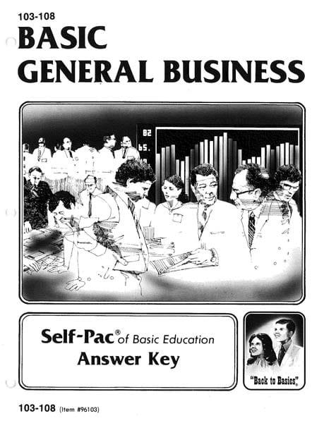 General Business Key 103-108