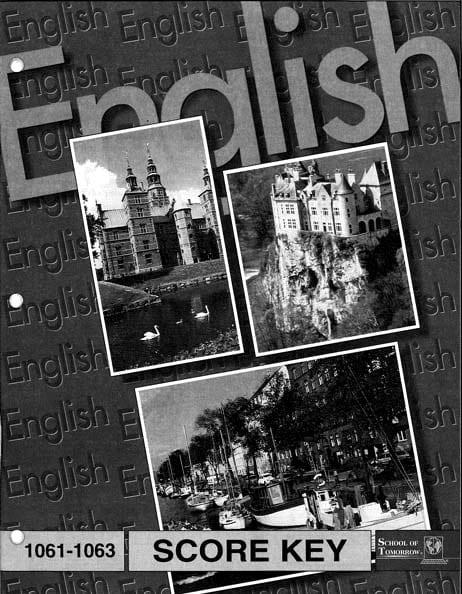 English I Key 1097-1099 from Accelerated Christian Education
