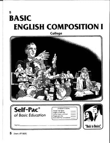English Composition I Unit 1 from Accelerated Christian Education