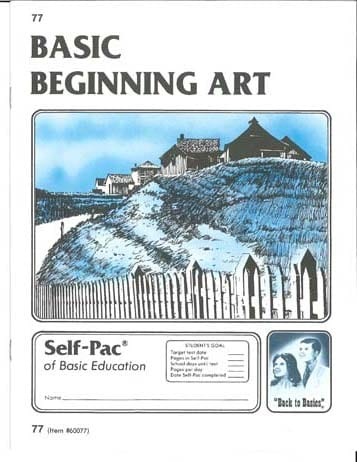 Beginning Art Unit 3 (Pace 75) from Accelerated Christian Education