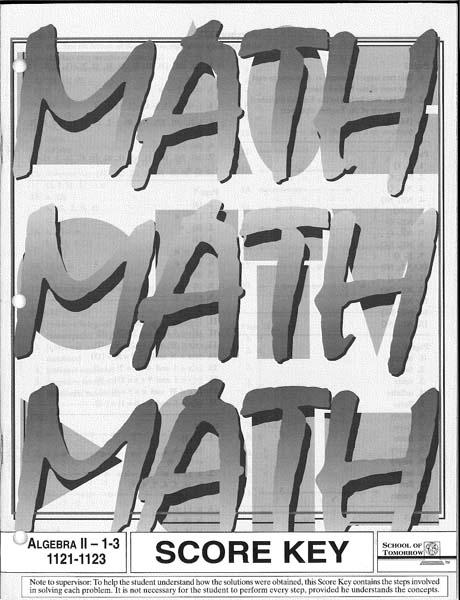 Algebra II Key 1124-1126 from Accelerated Christian Education