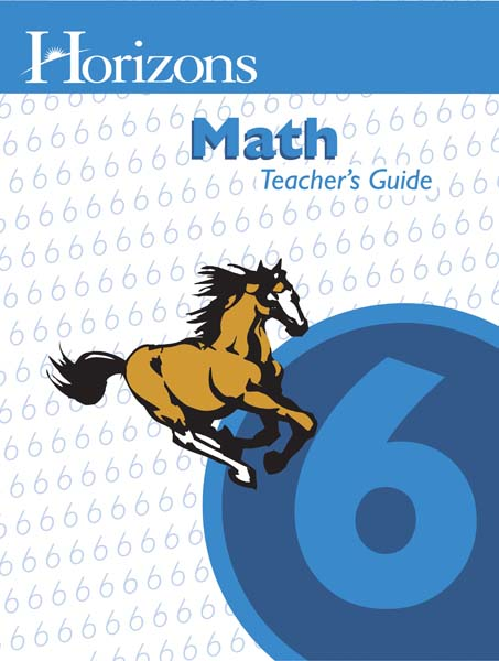 Horizons 6th Grade Math Teacher's Guide from Alpha Omega Publications
