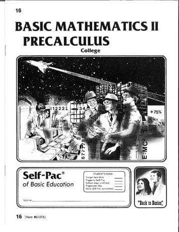 PreCalculus Pace 18