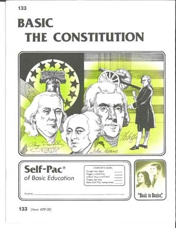 Constitution Unit 1 (Pace 133) (High School) from Accelerated Christian Education