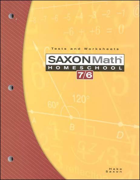 Math 7/6 Homeschool Testing Book 4th Edition from Saxon Math
