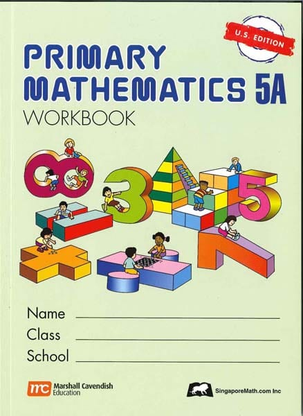 Primary Math Workbook 5A US Edition by Singapore Math