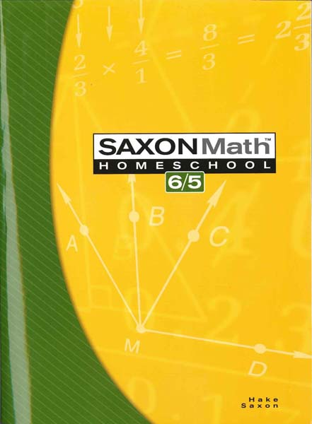 Math 6/5 Homeschool Kit Third Edition from Saxon Math