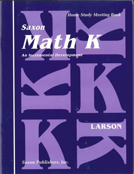 Math K Homeschool Student's Meeting Book 1st Edition from Saxon Math