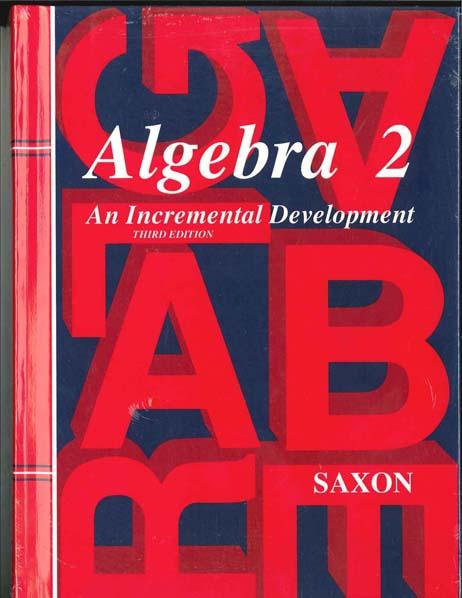 Algebra 2 Homeschool Kit w/Solutions Manual from Saxon Math
