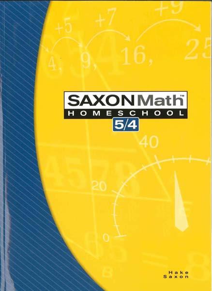 Math 5/4 Homeschool 3rd Edition from Saxon Math