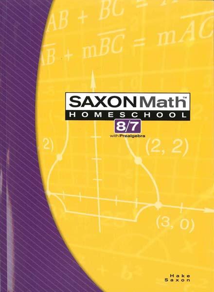 Math 8/7 Homeschool Student Edition 3rd Edition from Saxon Math