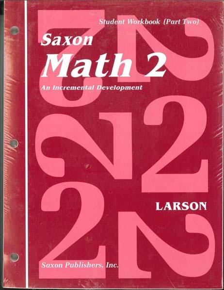 Math 2 Homeschool First Edition Student Workbook Set from Saxon Math
