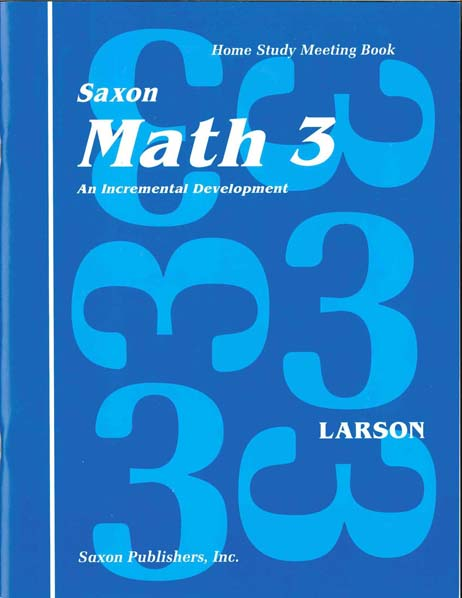 Math 3 Homeschool First Edition Student's Meeting Book from Saxon Math