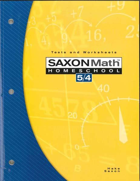 Math 5/4 Homeschool Testing Book 3rd Edition from Saxon Math
