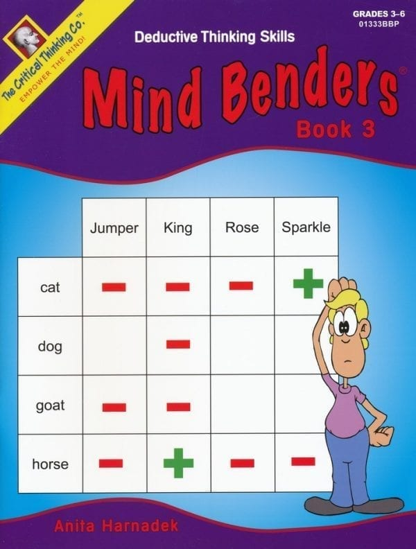 Mind Benders Level 3, Grades 3-6, from The Critical Thinking Company