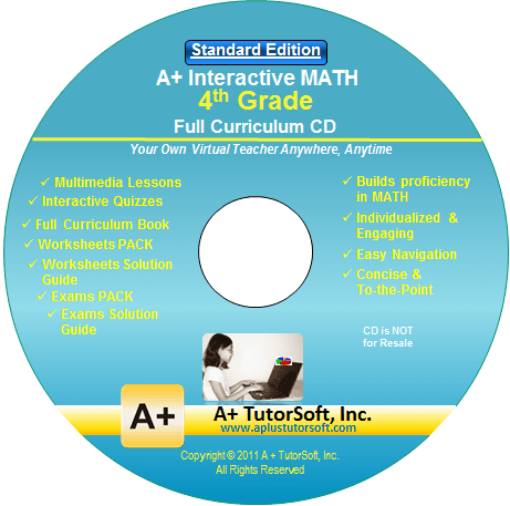 4th Grade Math Full Curriculum Standard Edition CD-ROM from A+ Interactive