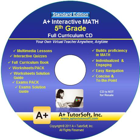 5th Grade Math Full Curriculum Standard Edition CD from A+ Interactive