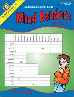 Mind Benders Level 7, Grades 7-12+, from The Critical Thinking Company