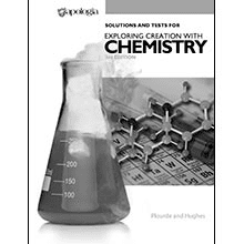 Solutions and Tests For Exploring Creation with Chemistry from Apologia