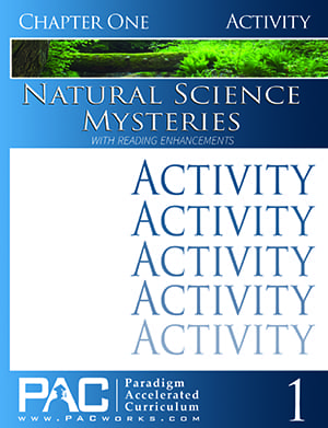 Natural Science Mysteries Chapter 1 Activities from Paradigm Accelerated Curriculum