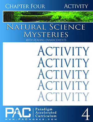 Natural Science Mysteries Chapter 4 Activities from Paradigm Accelerated Curriculum