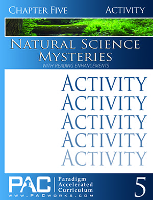 Natural Science Mysteries Chapter 5 Activities from Paradigm Accelerated Curriculum