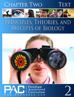 Principles, Theories, and Precepts of Biology Chapter 2 Text from Paradigm Accelerated Curriculum