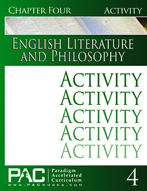 English IV: Legacy of Freedom Chapter 4 Activities from Paradigm Accelerated Curriculum