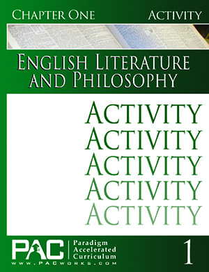 English IV: Legacy of Freedom Chapter 1 Activities from Paradigm Accelerated Curriculum