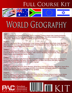 World Geography Full Course Kit from Paradigm Accelerated Curriculum