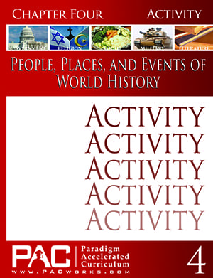 World History Chapter 4 Activities from Paradigm Accelerated Curriculum