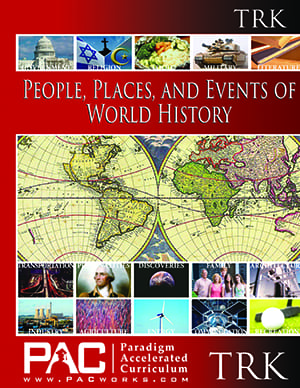 World History Teachers Resource Kit (TRK) from Paradigm Accelerated Curriculum