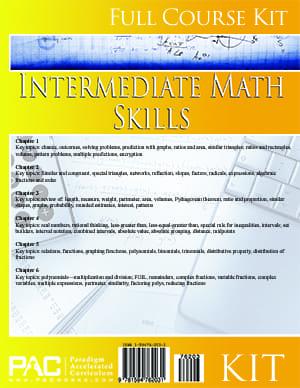 Intermediate Math Skills from Paradigm Accelerated Curriculum