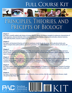 Principles, Theories, & Precepts of Biology kit from Paradigm Accelerated Curriculum