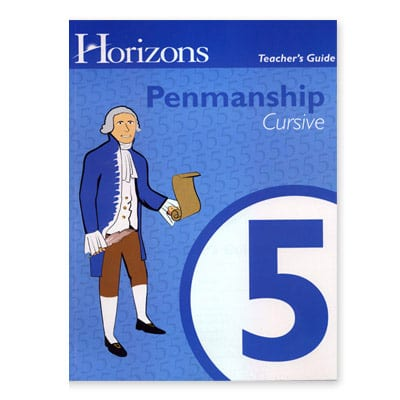 Horizons 5th Grade Penmanship Teacher's Guide from Alpha Omega Publications