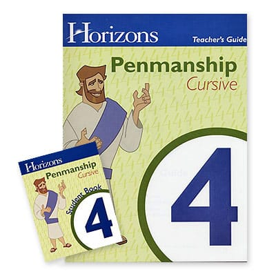 Horizons 4th Grade Penmanship Set from Alpha Omega Publications