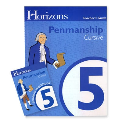 Horizons 5th Grade Penmanship Set from Alpha Omega Publications