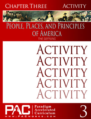 The Discovering of America (Chapter 3 Activities) from Paradigm Accelerated Curriculum